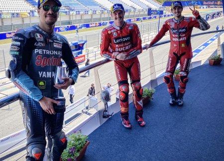 Buktikan Kemampuan, Ducati Sabet 2 Podium Di MotoGP Spanyol 2021