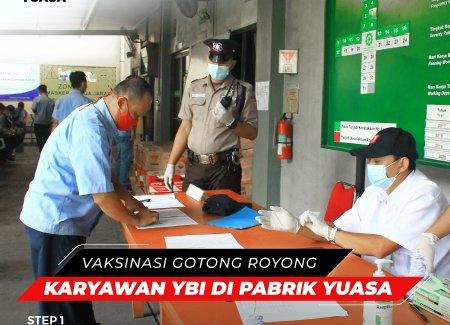 Vaksinasi Gotong Royong Karyawan Yuasa Battery Indonesia