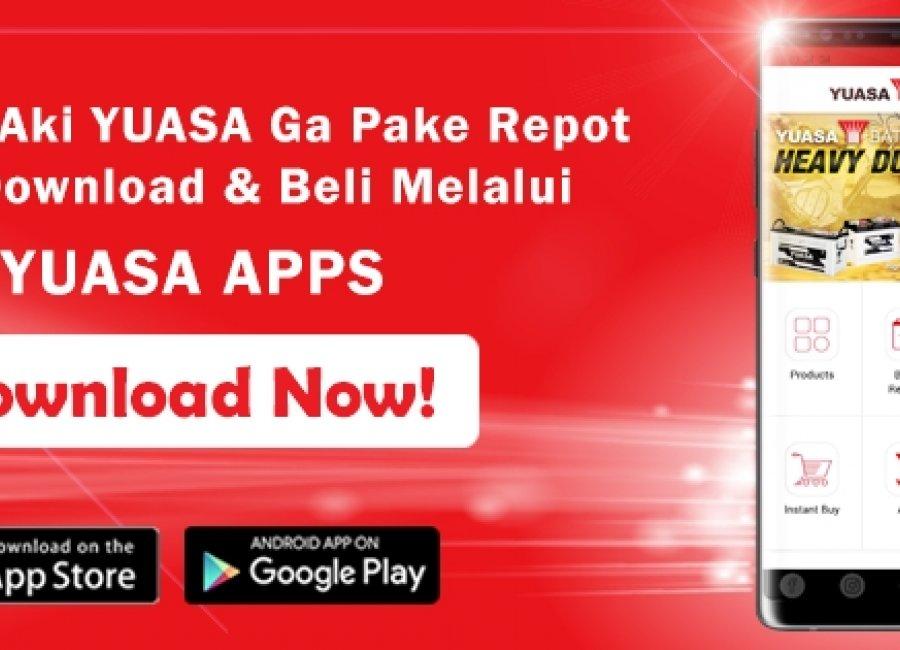 Yuasa Apps, Platform Praktis Khusus Aki Kendaraan Anda