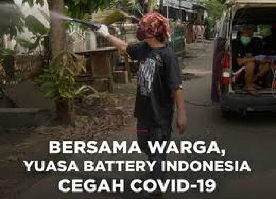 BERSAMA WARGA, YUASA BATTERY INDONESIA BANTU CEGAH COVID-19
