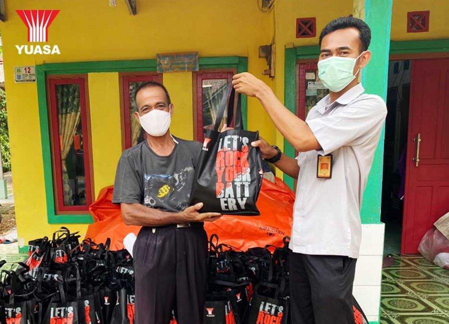 Yuasa Battery Kembali Salurkan CSR Bantu Masyarakat Terdampak Covid-19