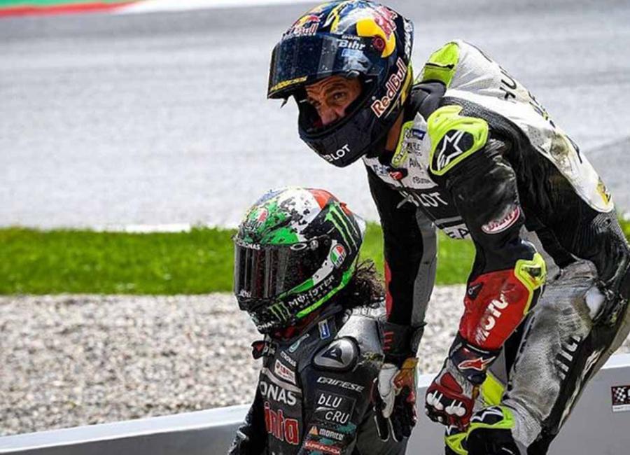 Drama Pembalap Bertumbangan Di MotoGP Austria 2020